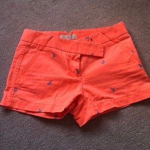 Jcrew shorts with blue sailboats